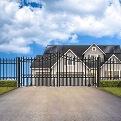 Aleko Moscow Style Ornamental Iron Wrought Dual Driveway Gate 14and039 High Quality