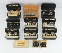 Vintage Collectible Russian Ussr Jewelry Scale Weights In Original Box