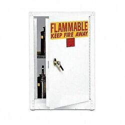 Eagle 1903whte Flammable Safety Cabinet 4 Gal. White Depth 18