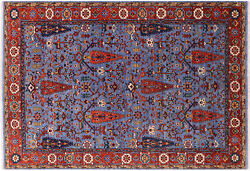 Ziegler Hand Knotted Wool Rug 6' 4 X 9' 2 - Q8835