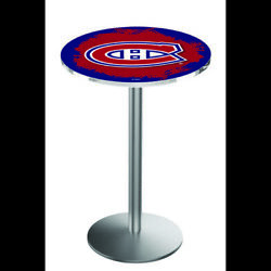 Holland Bar Stool Co. L214s3636moncan 36 Stainless Steel Montreal Canadiens
