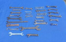 Mixed Lot 27 Vintage, Old Farm Implement Wrenches Automobile Flat Tools