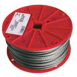 Campbell 7000626 3/16 7 X 19 Type 304 Stainless Steel Cable 250 Feet Per Reel
