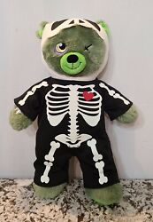 Build A Bear Zombear Zombie Teddy 16andrdquo With Squeleton Costume Retired 2015