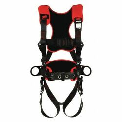 3m Protecta 1161226 Full Body Harness, Vest Style, S, Polyester, Black