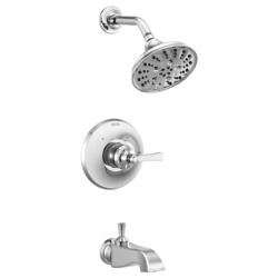 Delta Dorval Monitor 14 Series Tub And Shower Trim Kit T14456-lhp In Chrome