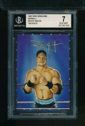 1997 Bend-ems Jus Toys Rocky Maivia The Rock Bgs 7 Rookie Rc Pop 1 Highest Swsw