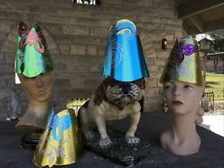 Vintage New Old Stock Costume Party Hats Set Of Four Topps Dept Store 16cents