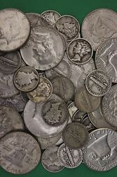 Make Offer 3 Troy Pounds 1964 Kennedy Franklin Mercury Junk 90 Silver Coins
