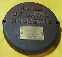 Vintage The De Laval Separator Co. Magnetic Pulso-pump Cast Cover W/ Brass Tag
