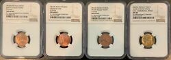 Moon Money Coins Tokens - Full Set Of 4 Coins - Ngc Certified Very Rare