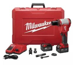 Milwaukee M18 18v Li-ion Cordless Force Logic Knockout Kit Batteries And Charger