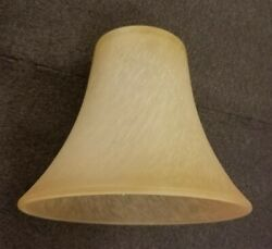 Brushed Cognac Glass Lighting Shade Replacement Lamp Globe Free Ship After 1st