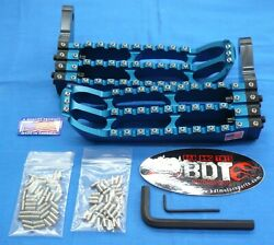 Honda Atc 250r Atc250r Bdt Racing Billet Foot Peg Set Cleat Design 1985-86 Blue