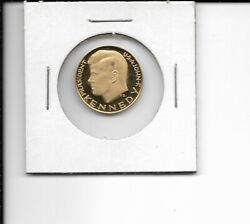 1963 John F. Kennedy Tribute .900 Proof Gold Coin Medal Round Commemorative