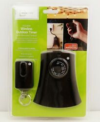 Mainstays 3-outlet Wireless Outdoor Timer W/ Remote Control New Sealed 2016