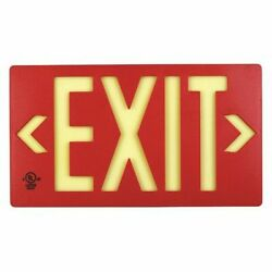 Jessup Glo Brite 7052-b Exit Signpf50red Doublesided