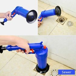 Air Pump Pressure Pipe Plunger Drain Cleaner Sewer Sinks Basin Clogged Remover