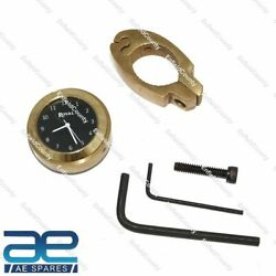 For Royal Enfield Black Dial Brass Handle Watch With Clamp Cdn