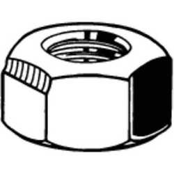 Fabory B51960.037.0002 3/8-24 Plain Finish 18-8 Stainless Steel Top Lock Nut