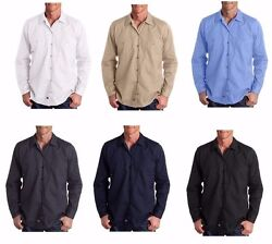 Menand039s New Size Mt-3xlt Pocket Industrial Long Sleeve Tall Work Shirts