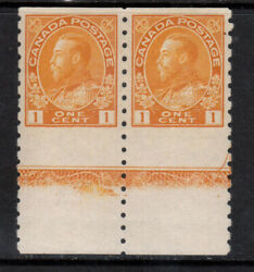 Canada 126ac Very Fine Never Hinged Lathework B Pair With Certificate