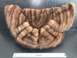 Vintage Fredley's 1940s Brown Mink Fur And Satin 40s Muff