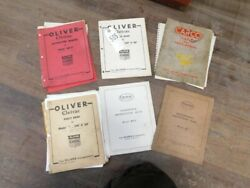 Six Oliver Cletrac 1520c And Ag Parts Instruction And Maintenance Books Tag 505