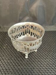 Antique British 1905 London Sterling Silver Sm Dish By Goldsmith And Silversmith