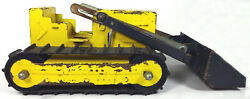 Vintage 1960's Structo Toys 11 Bulldozer, Yellow Black Painted Pressed Steel
