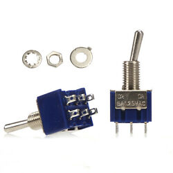 300pcs Mts-202 6-pin 2 Position On-on Dpdt Mini Latching Toggle Switch 6a 125vac