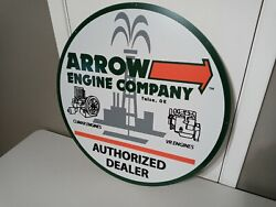 Arrow Engine Company Metal Dealers Sign Oil And Gas