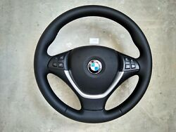 07-14 Bmw Oem X5 E70 X6 E71 Sport New Nappa Leather Steering Wheel W/srs Thick