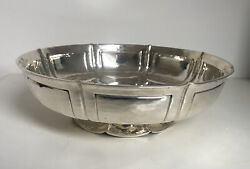 A Very Good Quality Handmade Solid Silver Arts And Crafts Table Bowl 630gf2148