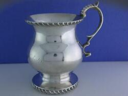 Early Coin Silver Cup Benjamin C Frobisher Boston Ma 1800s Thomas D B Winchester