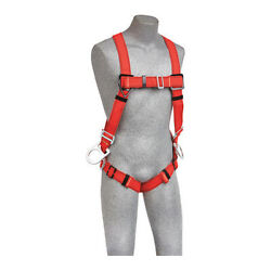 3m Protecta 1191381 Full Body Harness, Vest Style, Universal, Polyester, Red