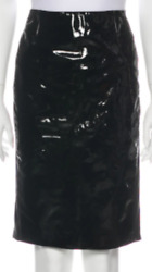 Tom Ford Patent Leather Paneled Skirt Sz 40 = Fits Us S - Worn Once Rt 2.5k +tx.