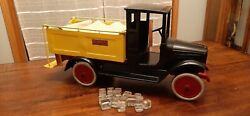 Rare Buddy L Ice Delivery Truck Pressed Steel Toy 1920s Antique