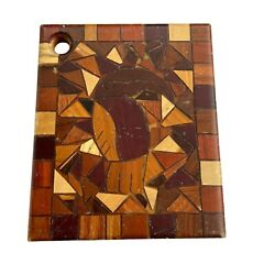 Handcrafted Vintage Parrot Designed Wooden Cutting Board Kitchen Decor