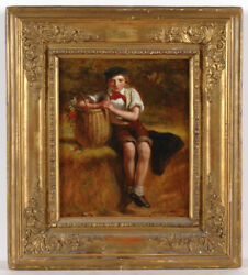 Charles Compton 1828-1884 A Break On The Way Home Oil Painting 1854/56