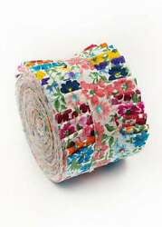 2.5 Inch Prairie Flower Jelly Roll 100 Cotton Fabric Quilting Strips 18 Pieces