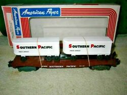 American Flyer 6-48501 Southern Pacific Flat Car W/ Trailers Lotjm26
