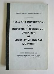 Vintage 1968 Lehigh Valley Railroad Rules Locomotive And Car Equipment Operation
