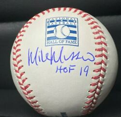Mike Mussina Yankees Orioles Signed Hall Of Fame Logo Baseball And Hof 19 Psa