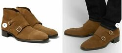 Tom Ford Sutherland Iconic Monk-strap Suede Boots Shoes Shoe 43.5
