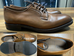 Brunello Cucinelli Men's Leather Lace-up Oxford Almond Toe Derby Shoes New 44