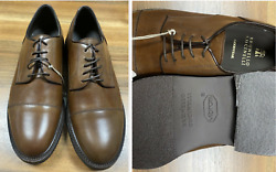 Brunello Cucinelli Men's Leather Lace-up Oxford Almond Toe Derby Shoes New 41