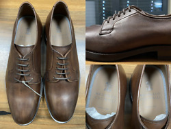 Brunello Cucinelli Men's Leather Lace-up Oxford Almond Toe Derby Shoes New