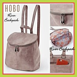 HOBO Bags International River Backpack Handbag in Titanium Gray MRSP $298 NWT $198.00
