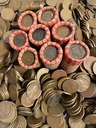 Estate Sale Indian Headend Wheat 2 Rolls Unsearched Cents Us Coin Pennies